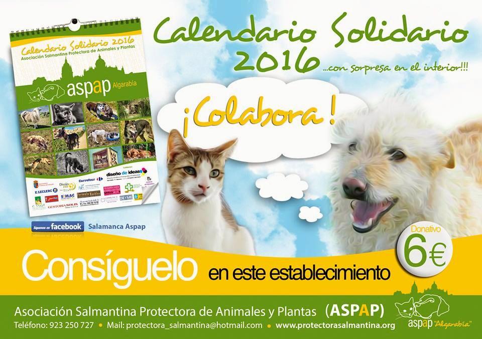 EL PRECIOSO CALENDARIO SOLIDARIO 2016 DE ASPAP YA ESTÁ DISPONIBLE!!!