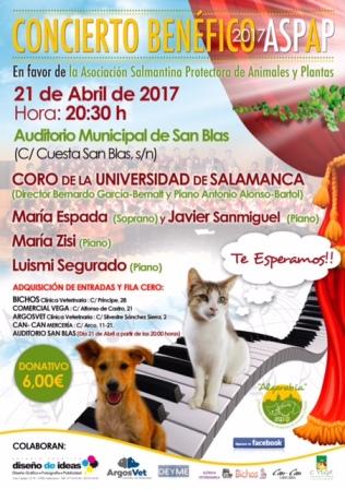 CONCIERTO BENÉFICO EN FAVOR DE ASPAP (21 de abril 2017)
