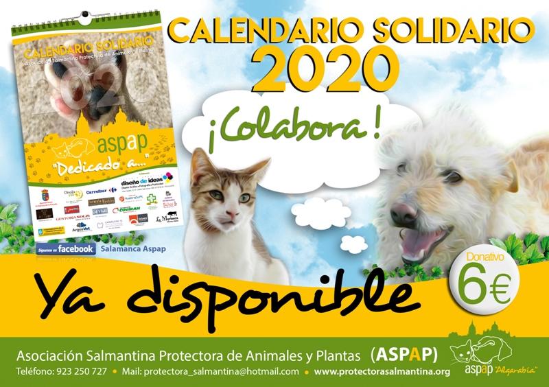 LOS CALENDARIOS SOLIDARIOS 2020 de ASPAP YA ESTÁN DISPONIBLES